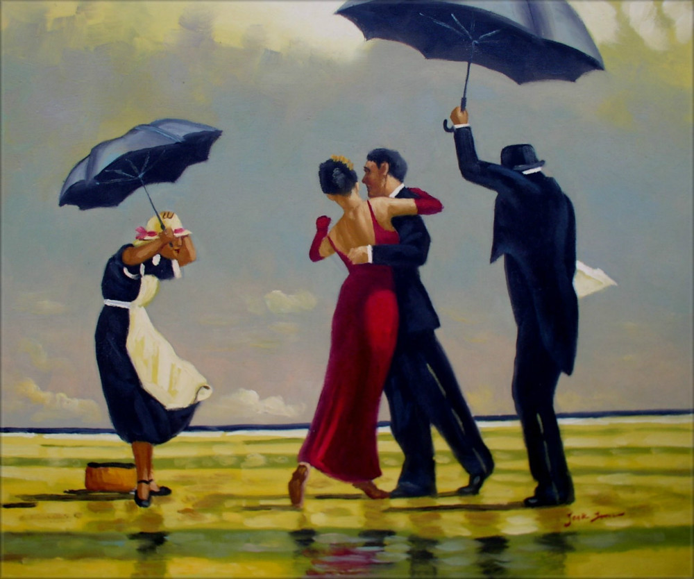 Dancing In The Rain Famous Painting